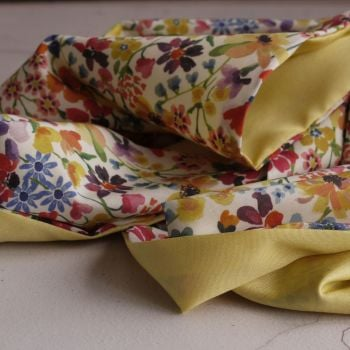 Dreams of Summer floral scarf made with Liberty fabric