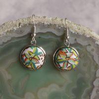 Liberty print earrings - A Castle Garden