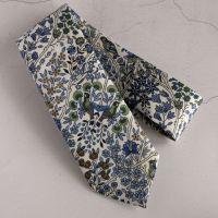 Blue floral Liberty print tie - Kensington Park