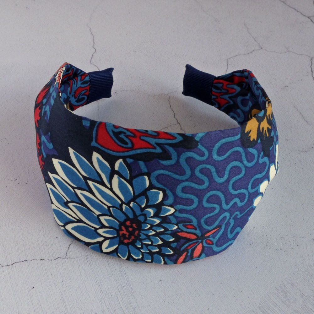 Liberty of London fabric hairband - Meandering Chrysanthemums