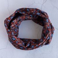 Liberty jersey circle scarf - Plume Poppy