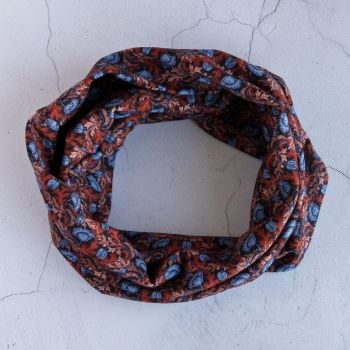 Jersey circle scarf - Plume Poppy - made from Liberty fabric