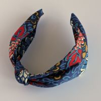 Liberty of London fabric hairband - Meandering Chrysanthemums knot