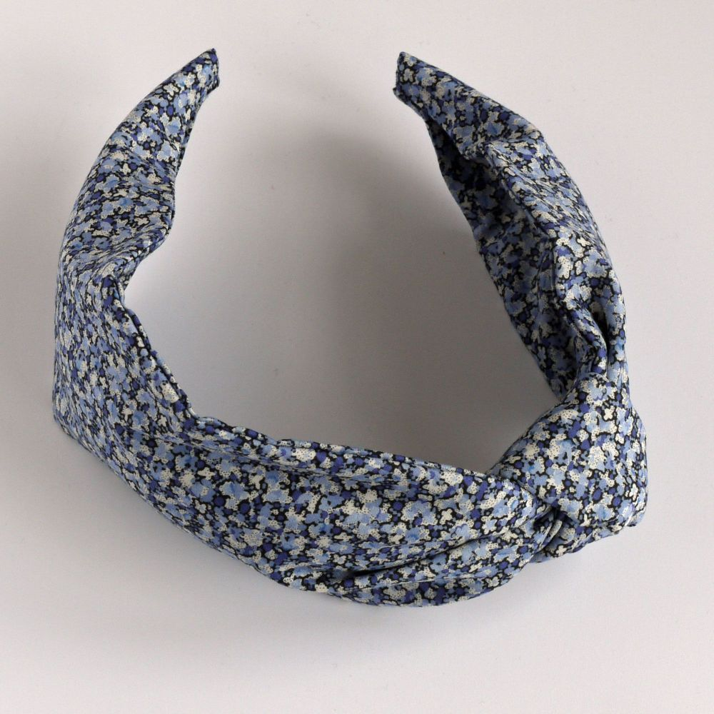 Liberty of London fabric hairband - Pepper blue knot