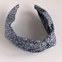 Liberty of London fabric hairband - Pepper blue knot
