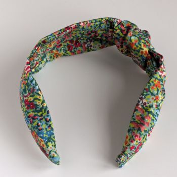 Liberty of London fabric hairband - Virginia Meadow knot