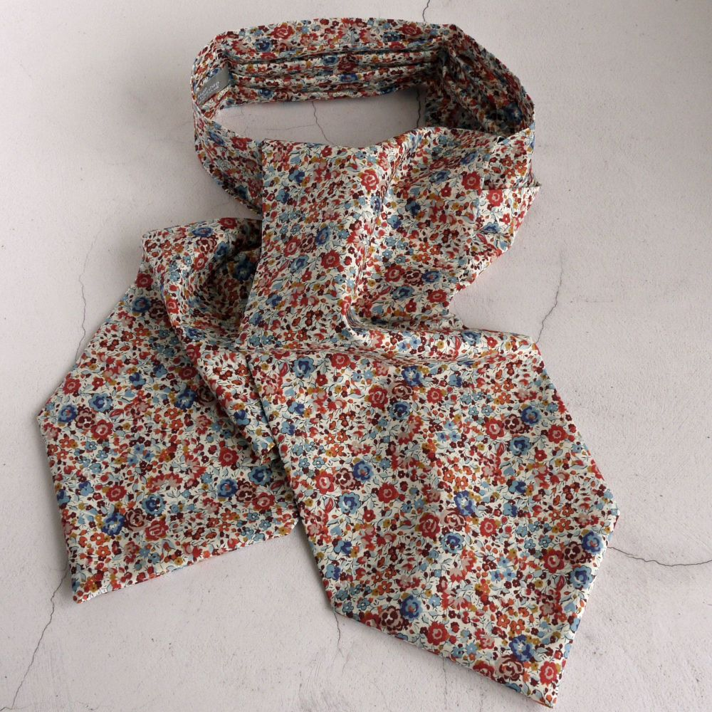 Floral Liberty print cravat - Emma and Georgina brown and blue