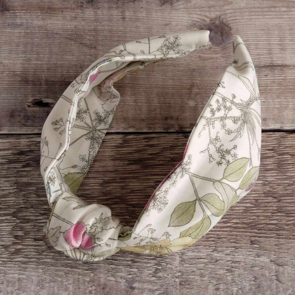 Floral Liberty of London fabric hairband - Irma knot