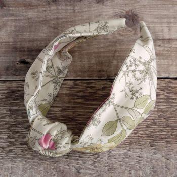 Floral Liberty of London fabric hairband - Irma knot