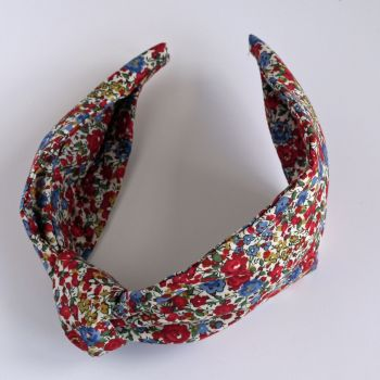 Floral Liberty print hairband - Emma & Georgina knot