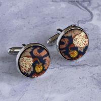 Liberty Strawberry Thief bronze cufflinks
