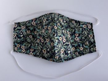 Floral Liberty lawn facemask - Brighton Blossom blue
