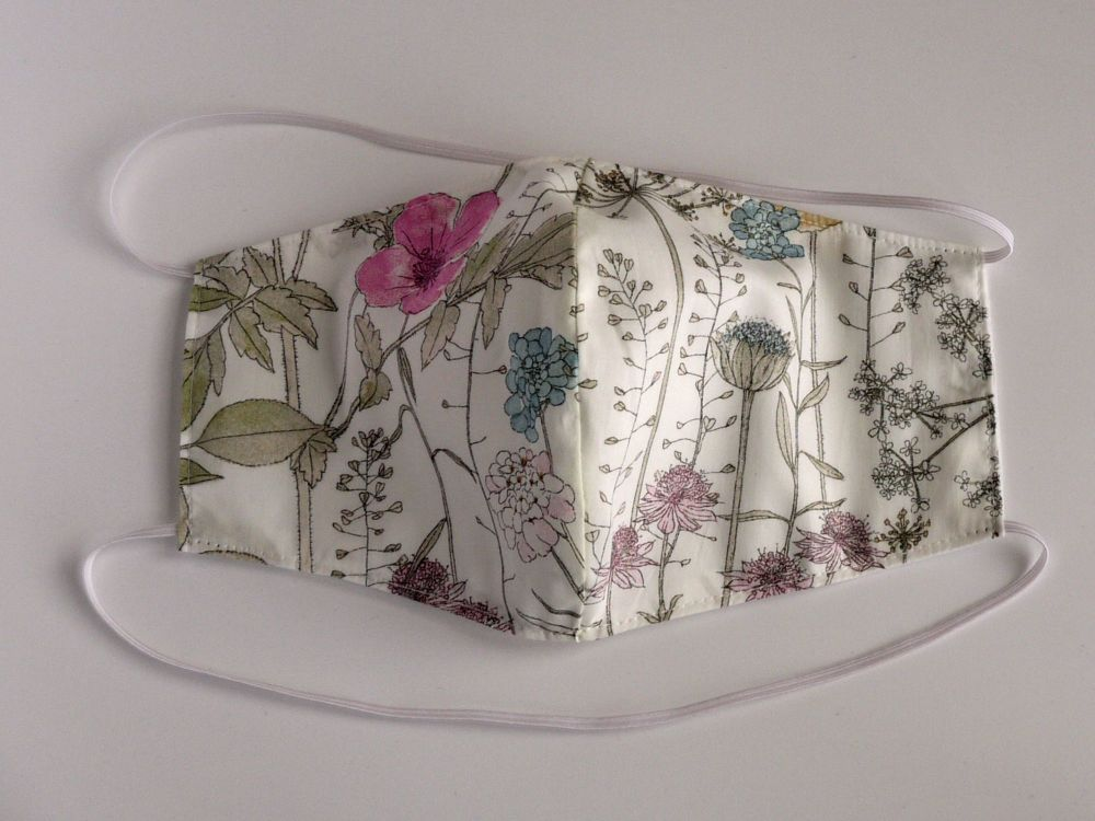 Floral Liberty lawn facemask - Irma
