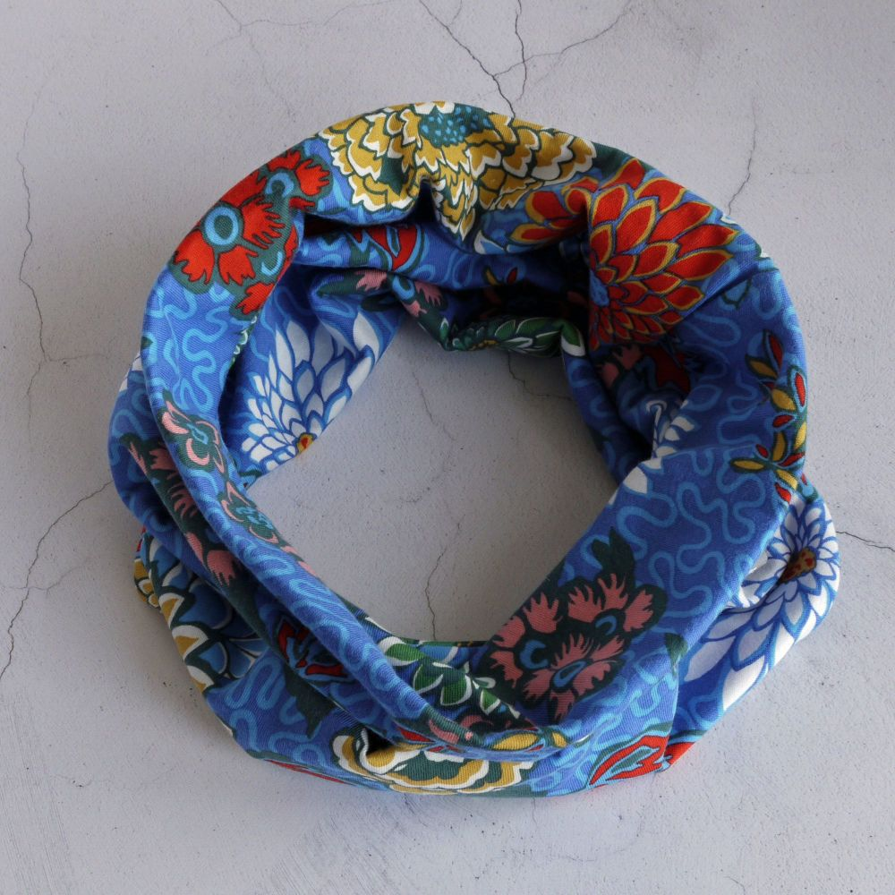 Liberty jersey circle scarf - Meandering Chrysanthemums