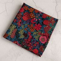 Floral Liberty pocket square - Ciara blue