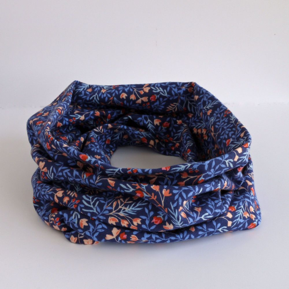 Jersey circle scarf - Floral No.9