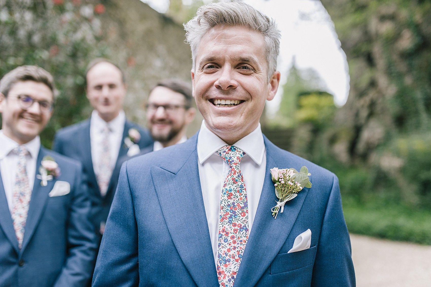 Real weddings Liberty print ties for an English Country Wedding