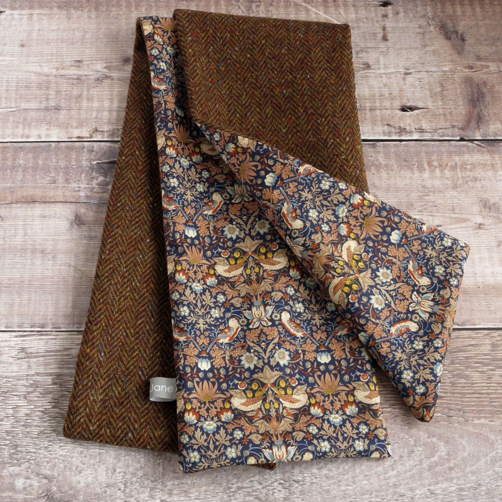 Donegal tweed and Strawberry Thief scarf