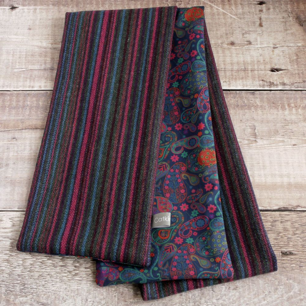Heather stripe tweed and Liberty paisley scarf