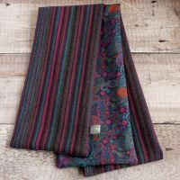 Heather stripe tweed and Liberty paisley scarf