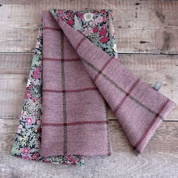 Pink check tweed and Liberty Ciara scarf