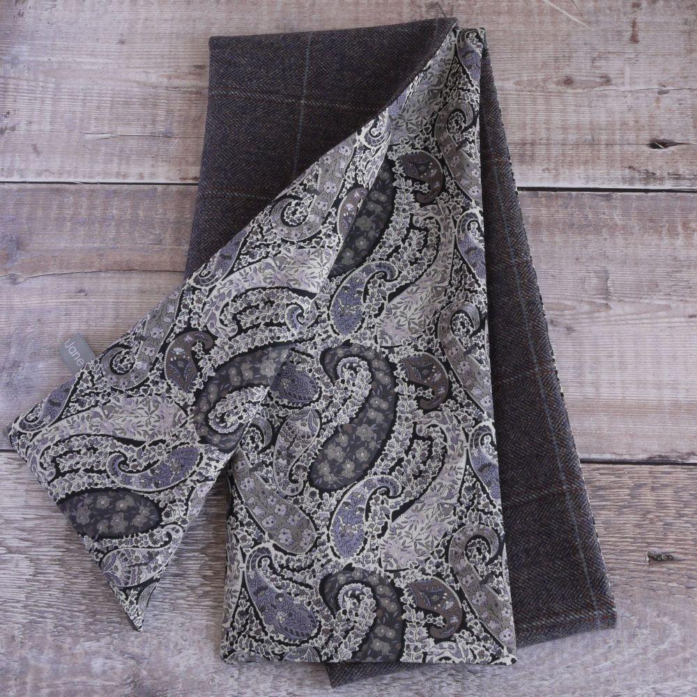 Herringbone tweed and Liberty Bourton paisley scarf