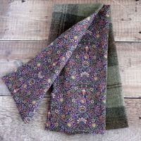 Plaid tweed and Liberty Peach Porter scarf