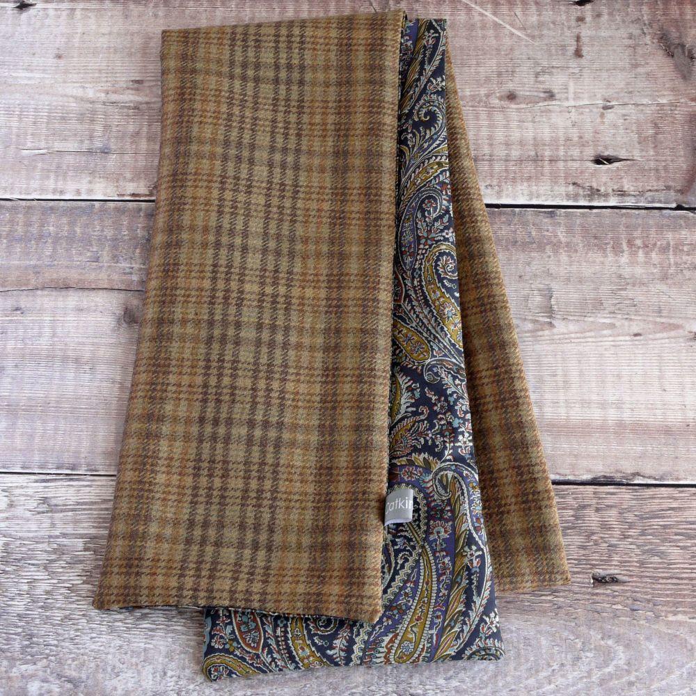 Check wool and Liberty paisley scarf
