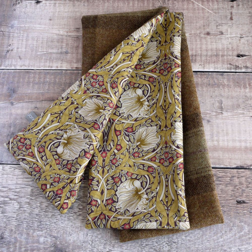 Plaid tweed and Liberty Pimpernel scarf