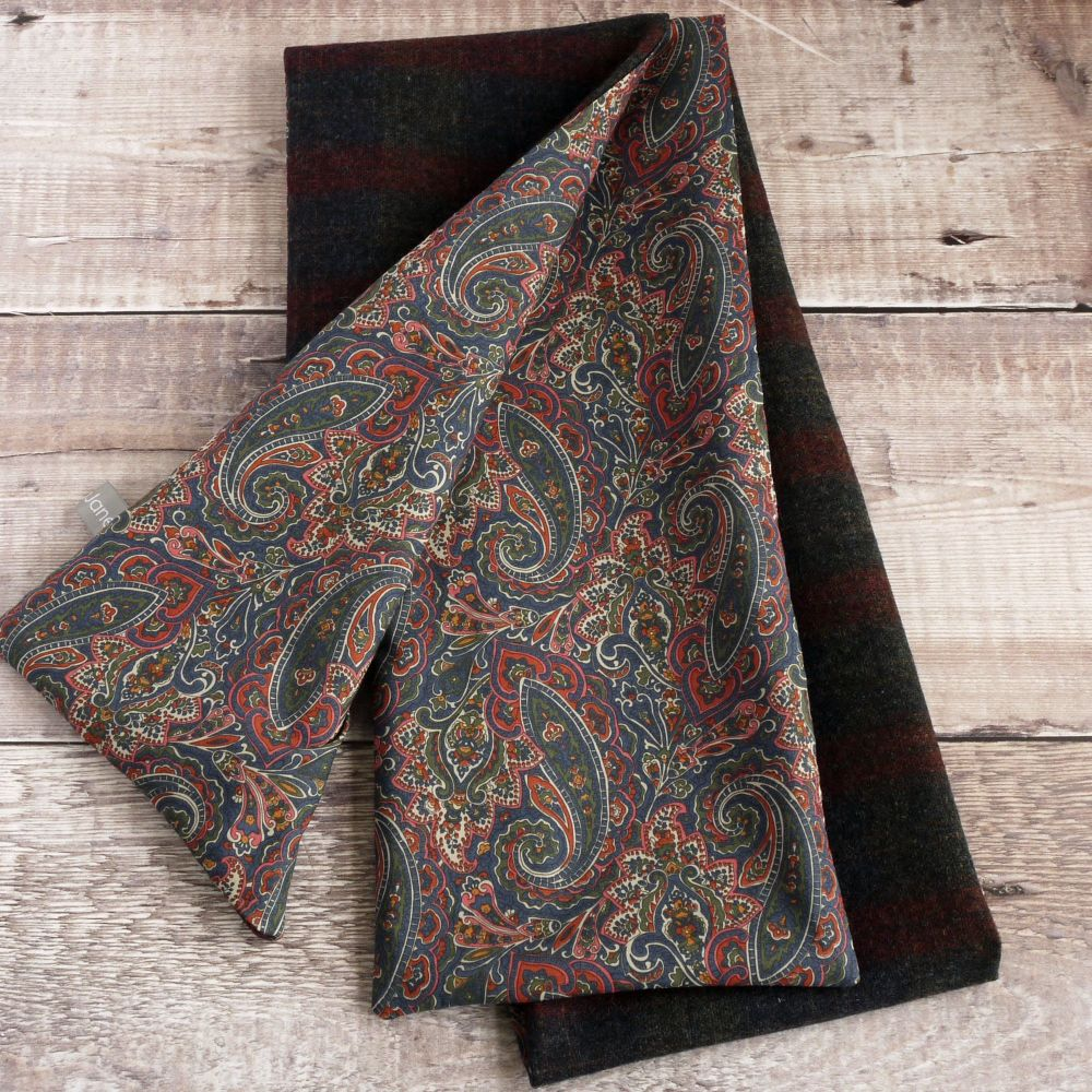Check wool and Liberty Tessa paisley scarf