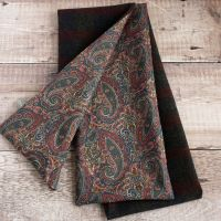 Check wool and Liberty Tessa paisley scarf