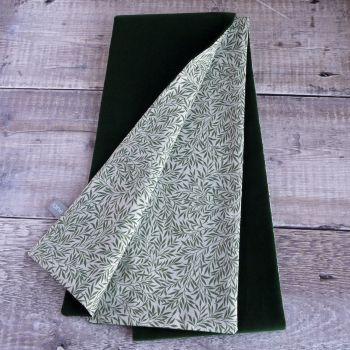 Green velveteen  and Liberty Willow Wood scarf