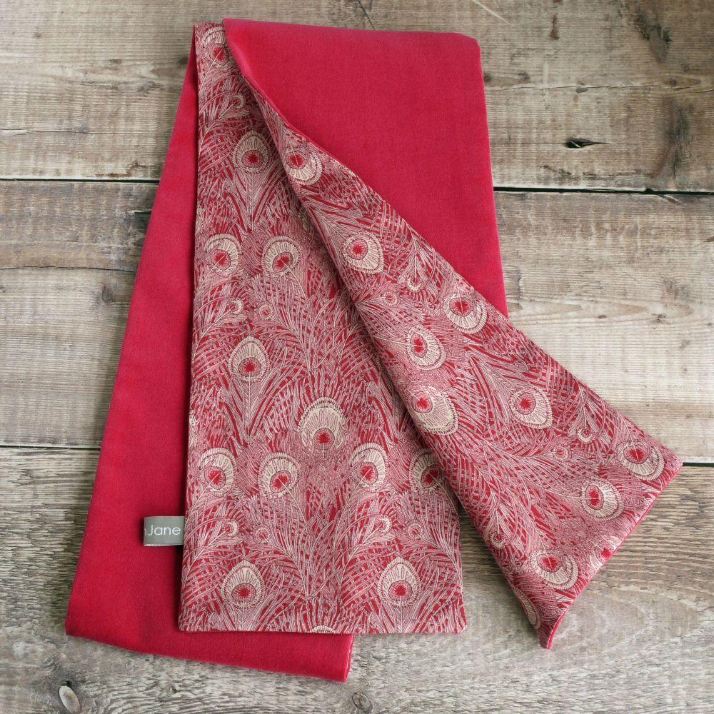 Cerise pink velveteen and Liberty Hera scarf