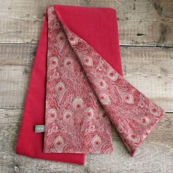 Cerise pink velveteen and Liberty Hera scarf