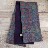 Purple velveteen and Liberty paisley scarf