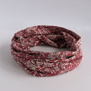 Jersey circle scarf - Trev pink - made from Liberty fabric