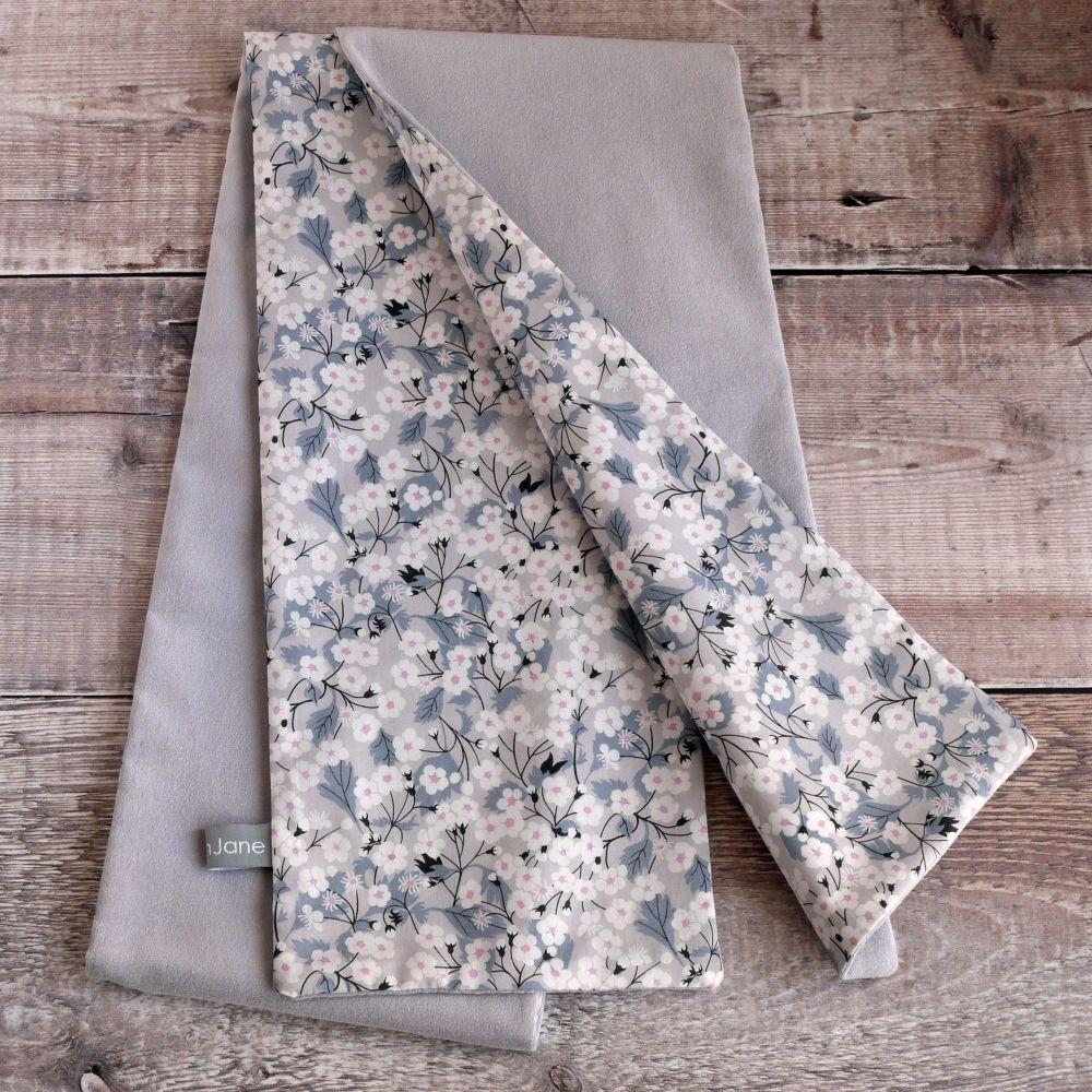 Grey velvet and Liberty Mitsi scarf