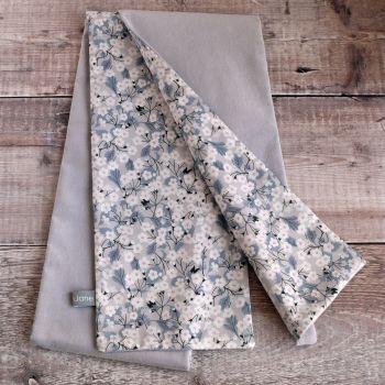 Grey velvet and Liberty Mitsi scarf