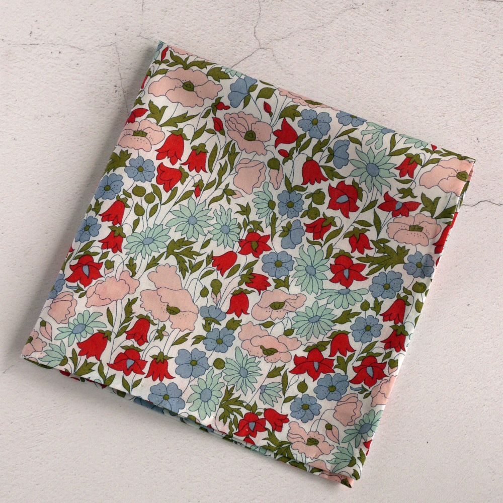 Floral pocket square - Liberty print Poppy & Daisy pink