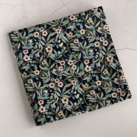 Blue floral pocket square - Liberty tana lawn Brighton Blossom