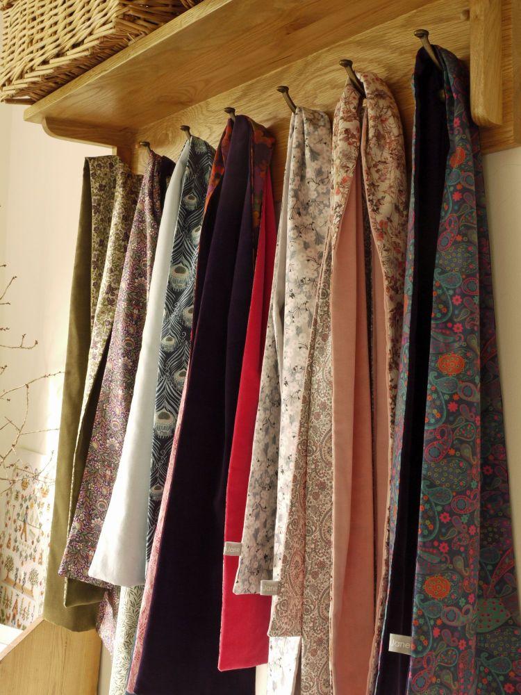 Velvet-and-Liberty-print-scarves