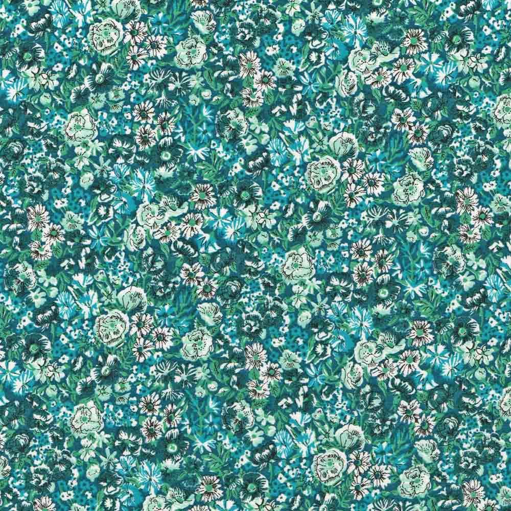 Face mask made from Liberty fabric - Chive green tana lawn