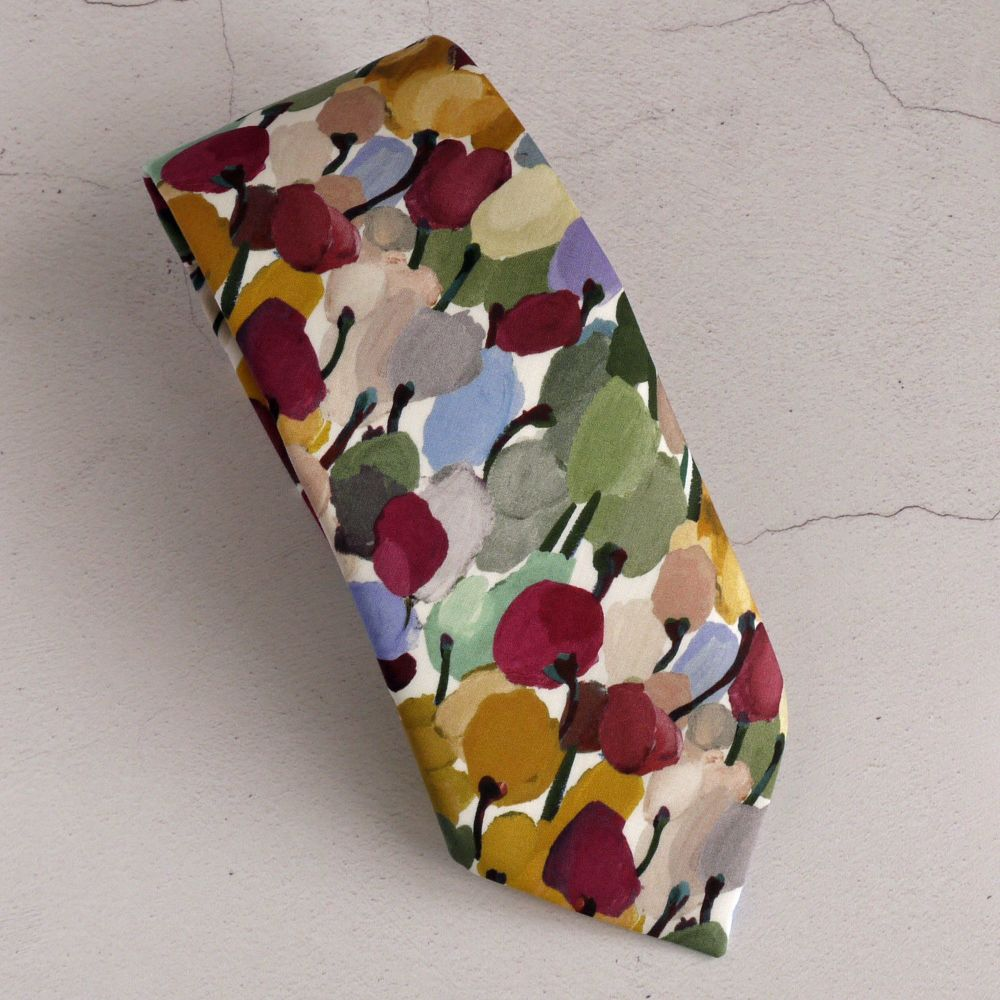 Floral Liberty print tie - Tulip Fields