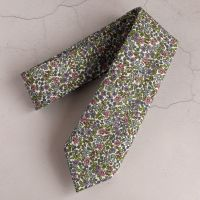 Floral Liberty tana lawn tie - Emilia's flowers green