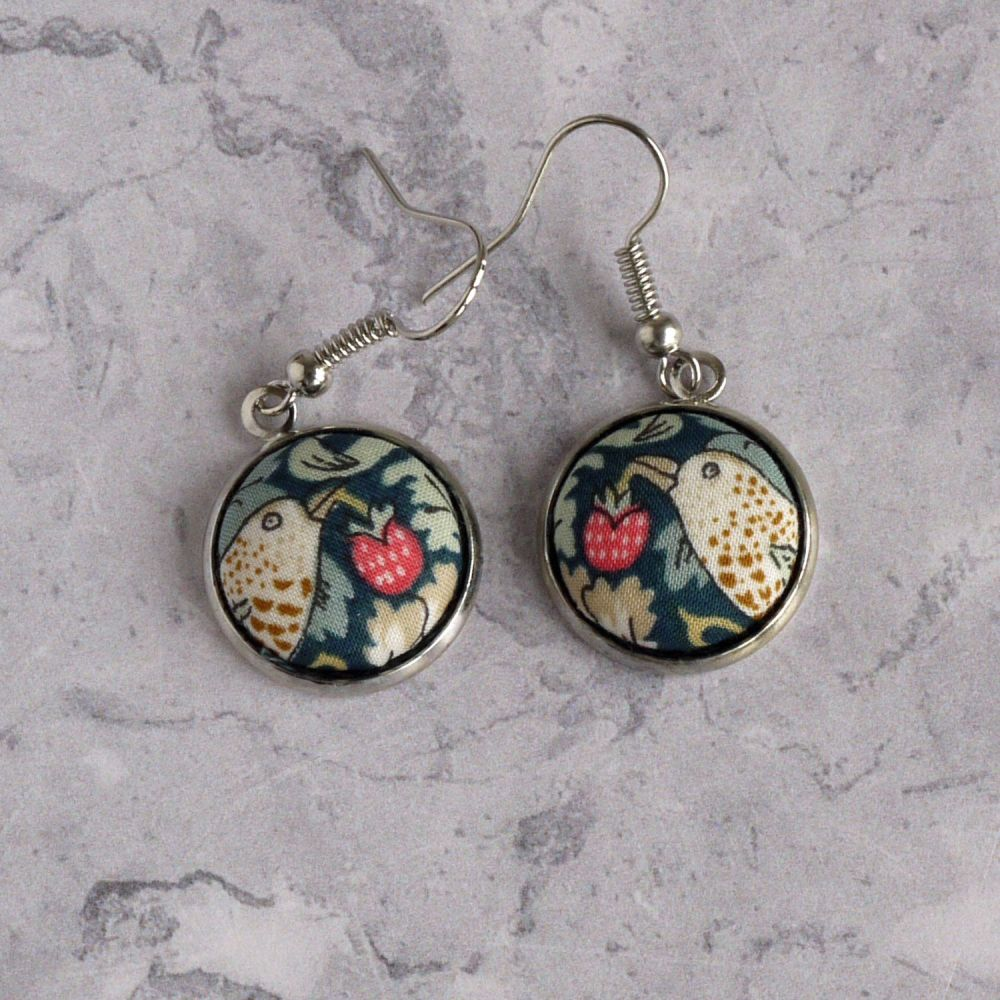 Custom order for 2 pairs of earrings made with Liberty fabric