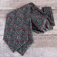 Gizmo green cravat made with Liberty fabric