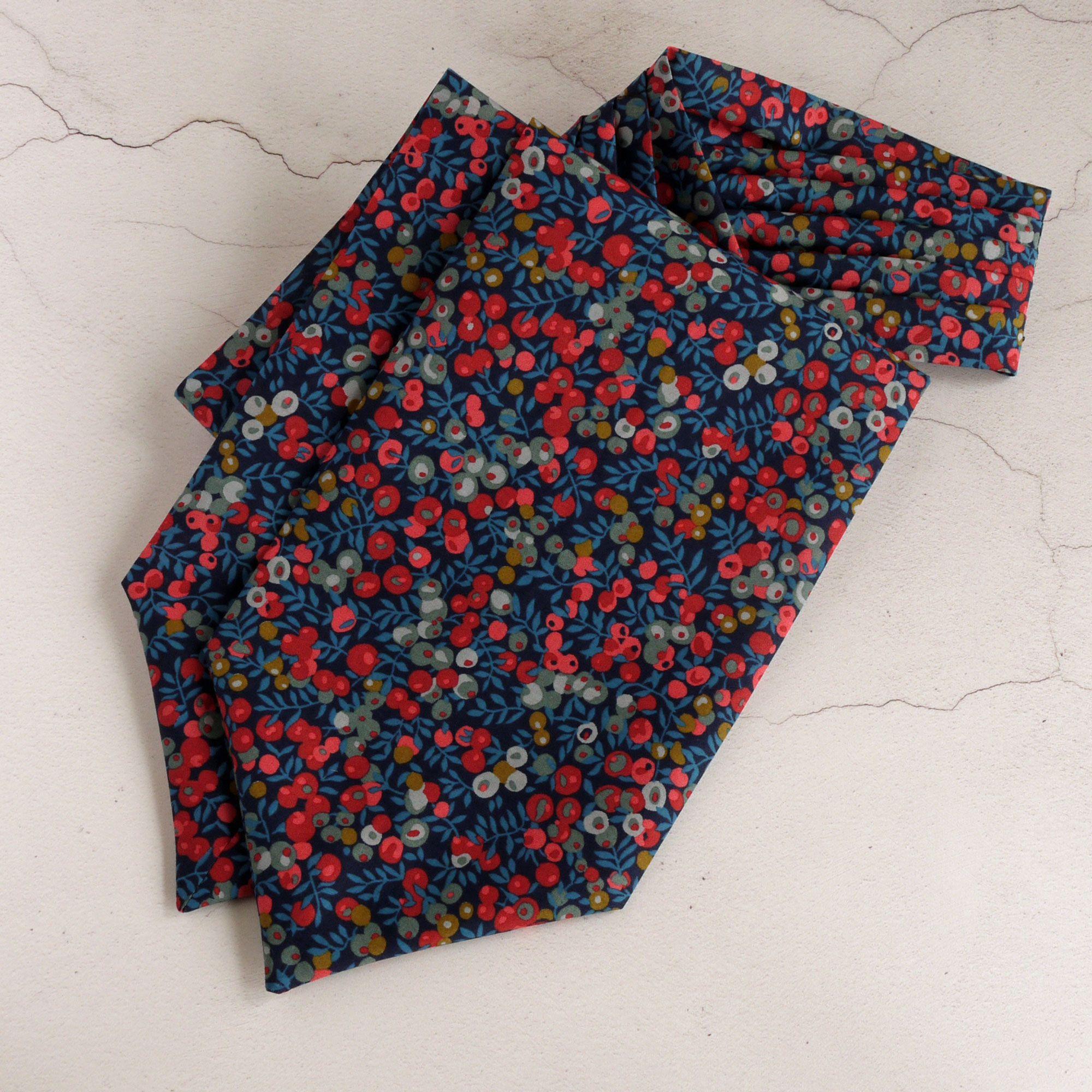 Wiltshire Berry blue Liberty cravat