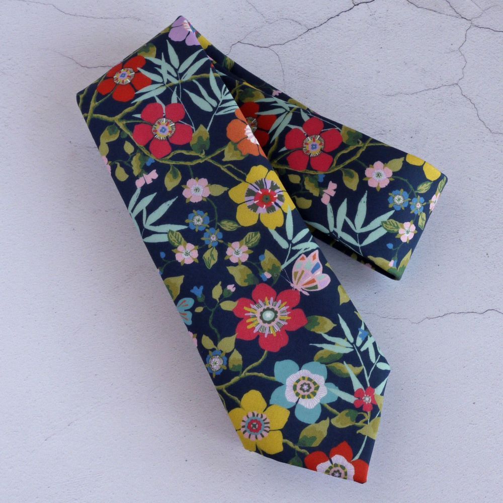 Floral tie made from Liberty fabric - Mini Pavilion