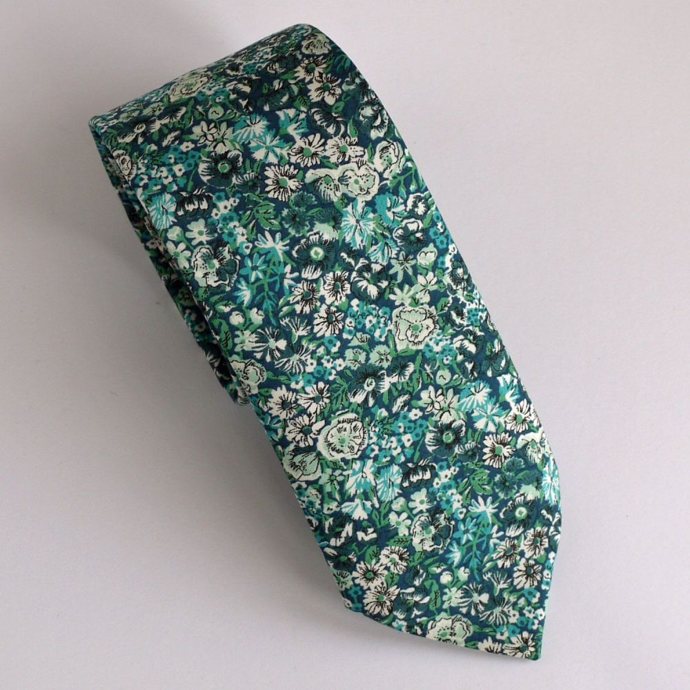Custom order for Liberty print ties - 1 x Chive green plus 4 x Willow Wood