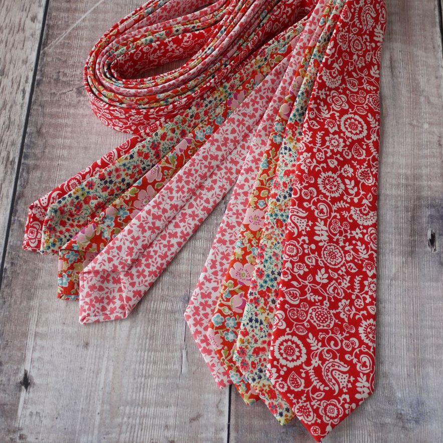 red / orange ties